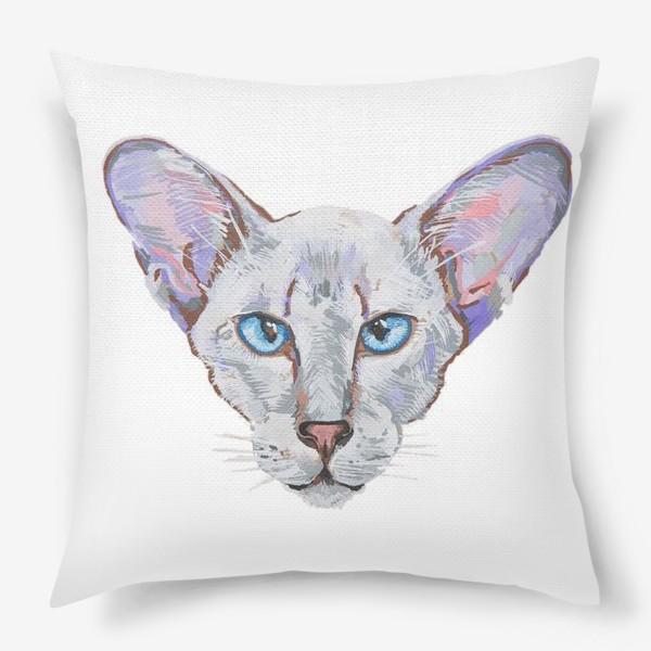 Подушка «Котик фиолетовый ух»