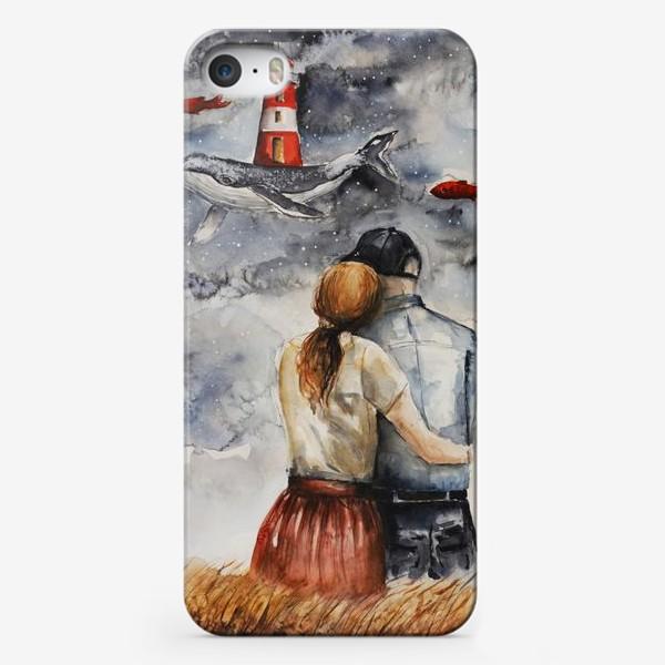 Чехол iPhone «Мечтая. Акварель »