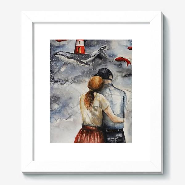 Картина «Мечтая. Акварель »