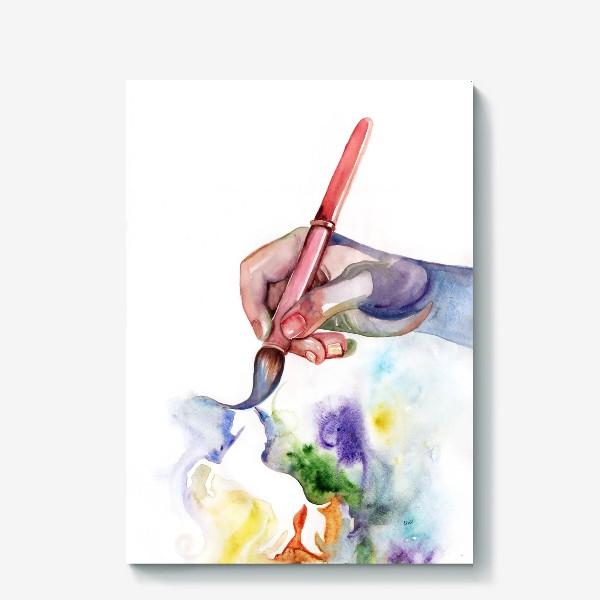 Холст «Рука творчества»