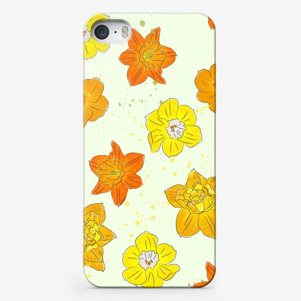 Чехол iPhone «жёлтые нарциссы»