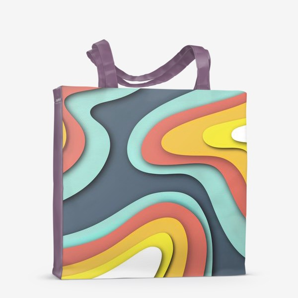 Сумка-шоппер «Абстракция вырезанный картон»