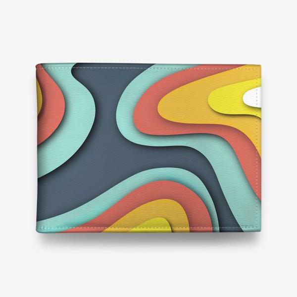 Кошелек «Абстракция вырезанный картон»