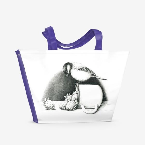 Пляжная сумка «Синица»