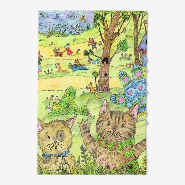 Полотенце «Котята потеряли перчатки»
