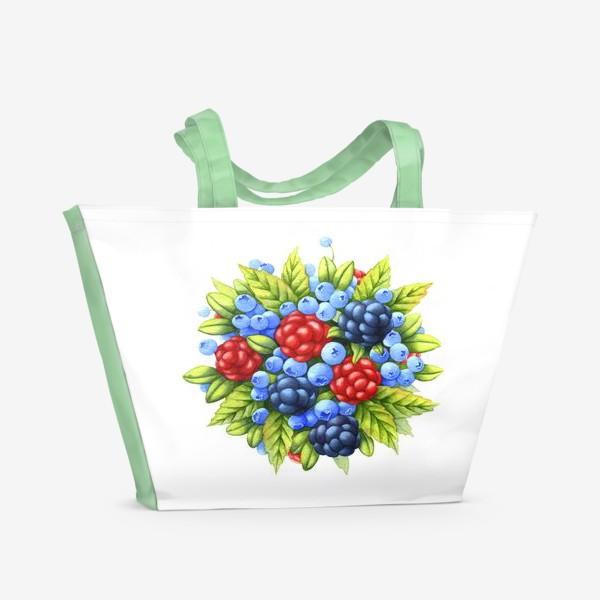 Пляжная сумка «Ягоды»
