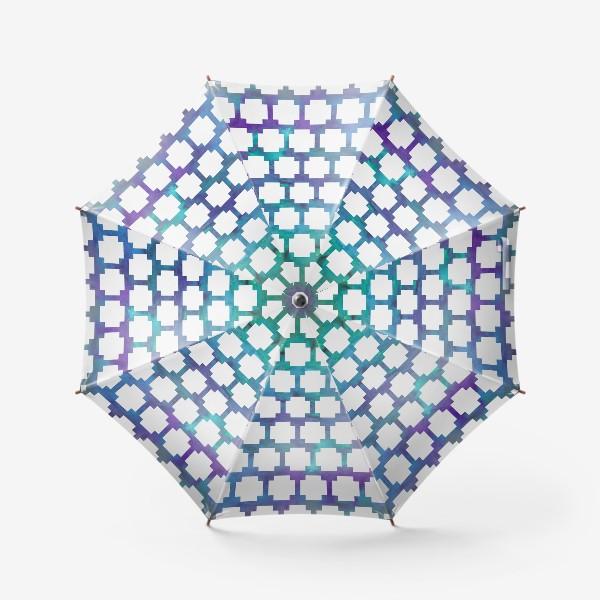 Зонт «узор крестиком на акварельном фоне»