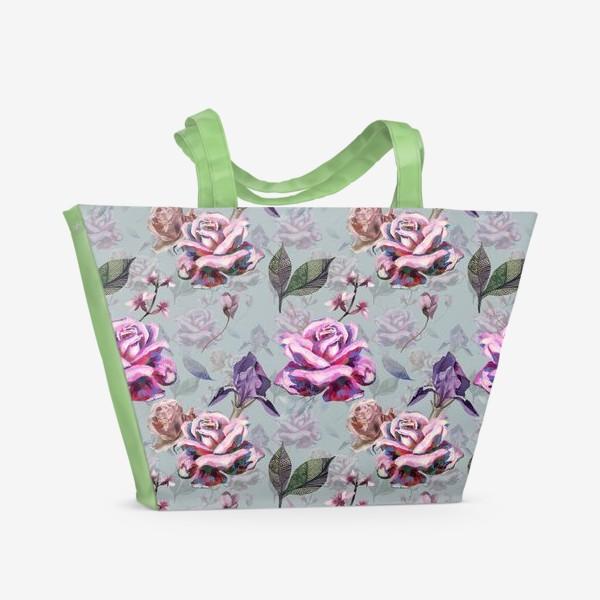 Пляжная сумка «Acrylic rose»