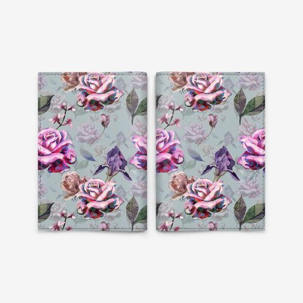Обложка для паспорта «Acrylic rose»