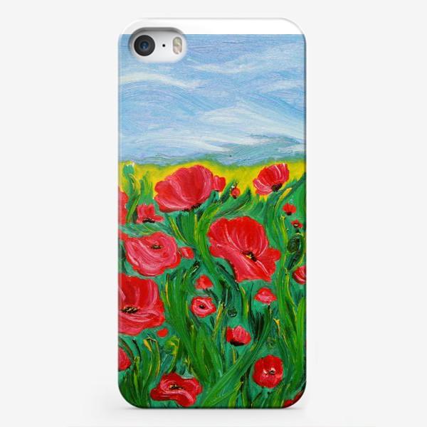 Чехол iPhone «Красные маки»