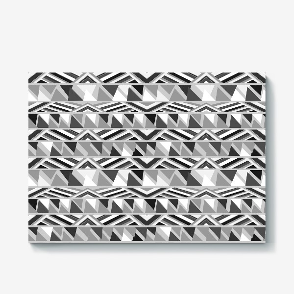 Холст «геометрия в сером»