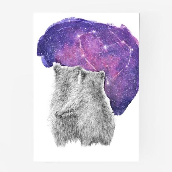 Постер «Влюбленная парочка. Мишки»