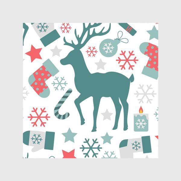 Скатерть «Рождество, Новый год, зимние праздники - бесшовный паттерн»