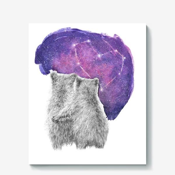 Холст «Влюбленная парочка. Мишки»