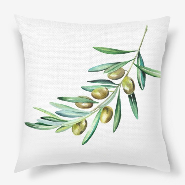 Подушка «Веточка оливок»