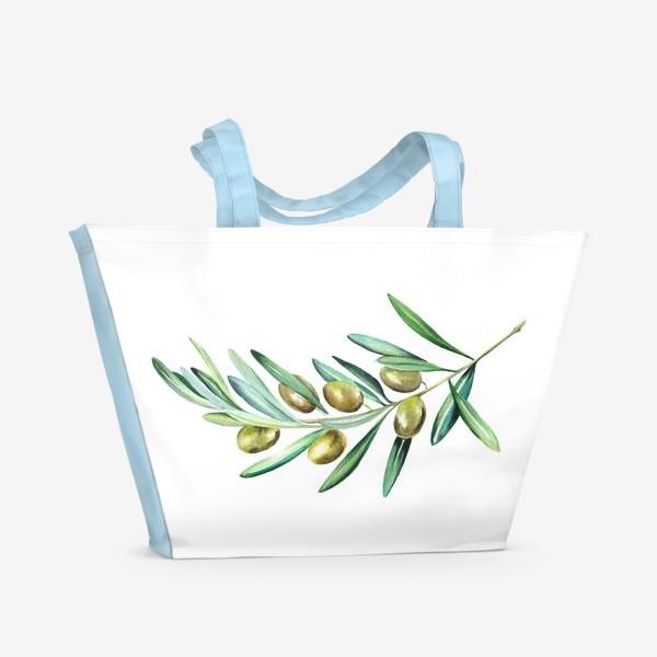 Пляжная сумка «Веточка оливок»