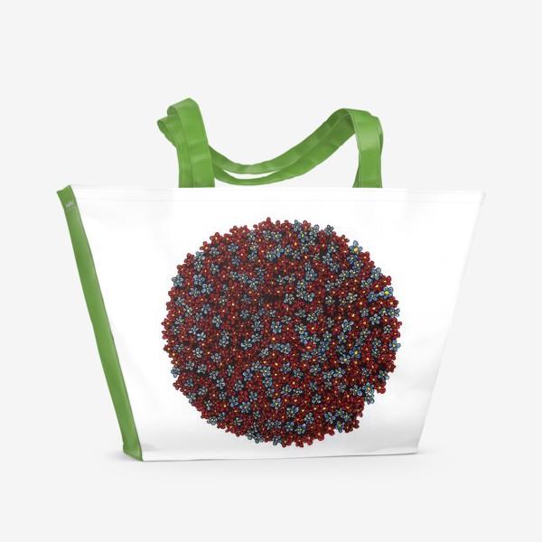 Пляжная сумка «Планета цветов»