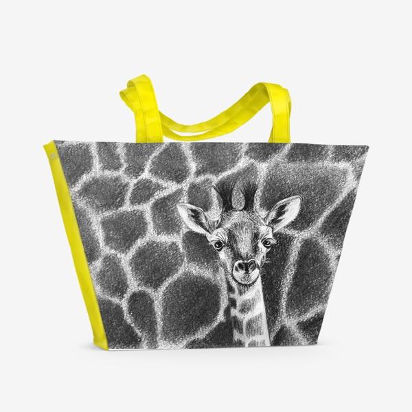 Пляжная сумка «Жираф черно-белый»