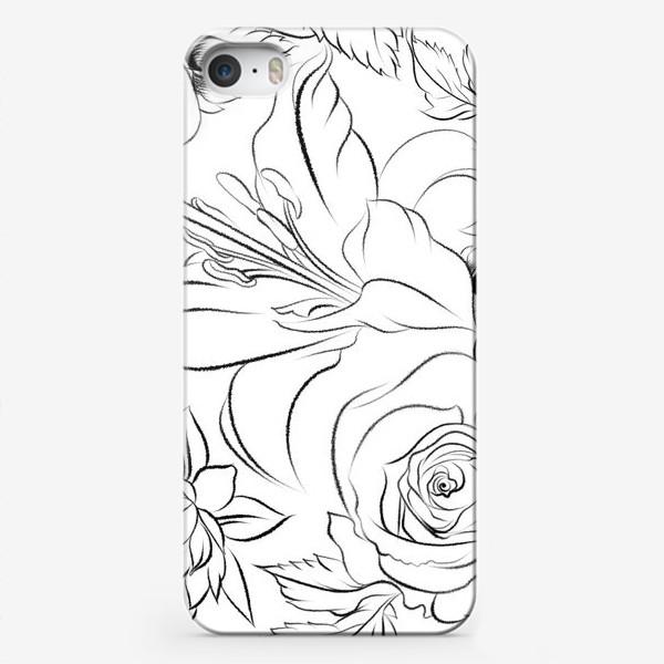 Чехол iPhone «Бесшовный паттерн с цветами»
