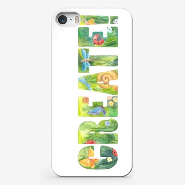 Чехол iPhone «Твори! (Create!)»