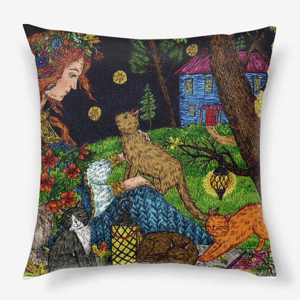 Подушка «Старый сад»