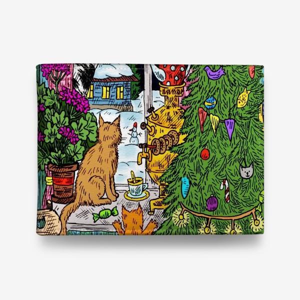Кошелек «Кошки и Новый год»