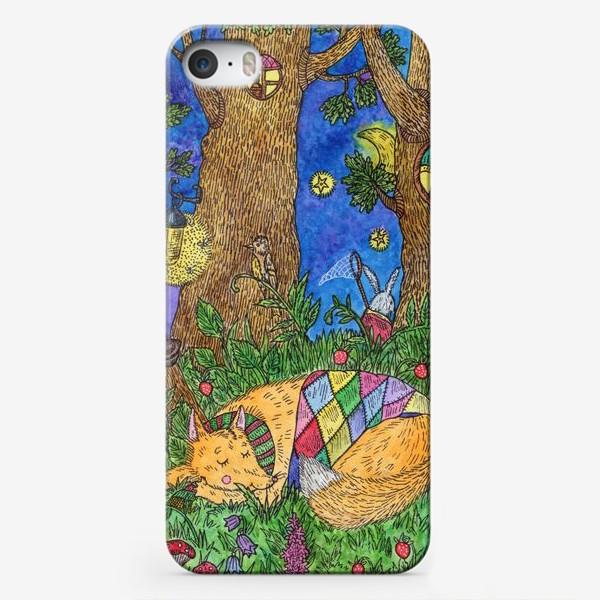 Чехол iPhone «Колыбельная для маленького лиса»