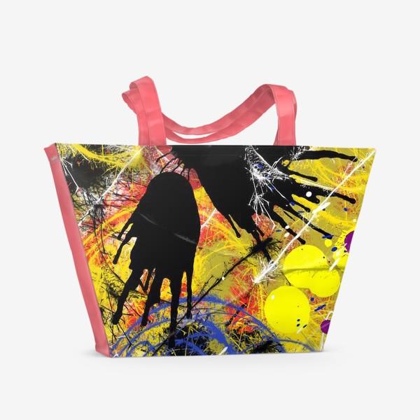 Пляжная сумка «Пятна и брызги краски»