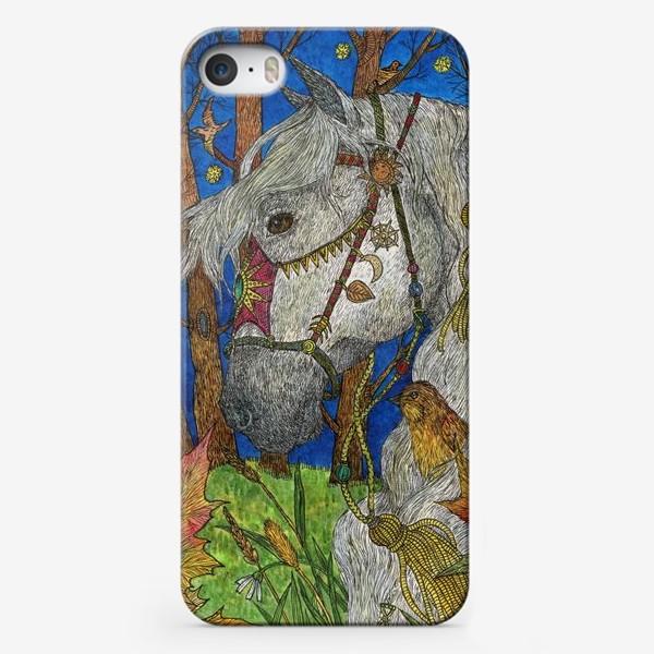 Чехол iPhone «Белая лошадь»