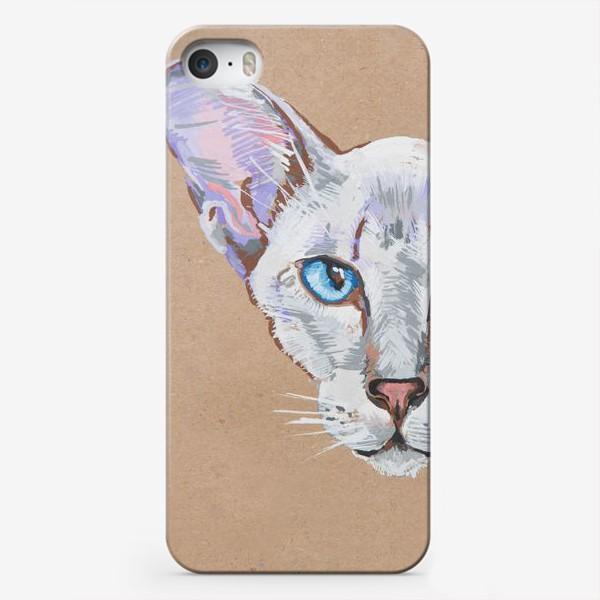 Чехол iPhone «Кот фиолетовоУх»