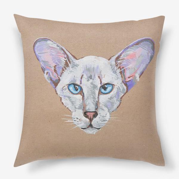 Подушка «Кот фиолетовоУх»