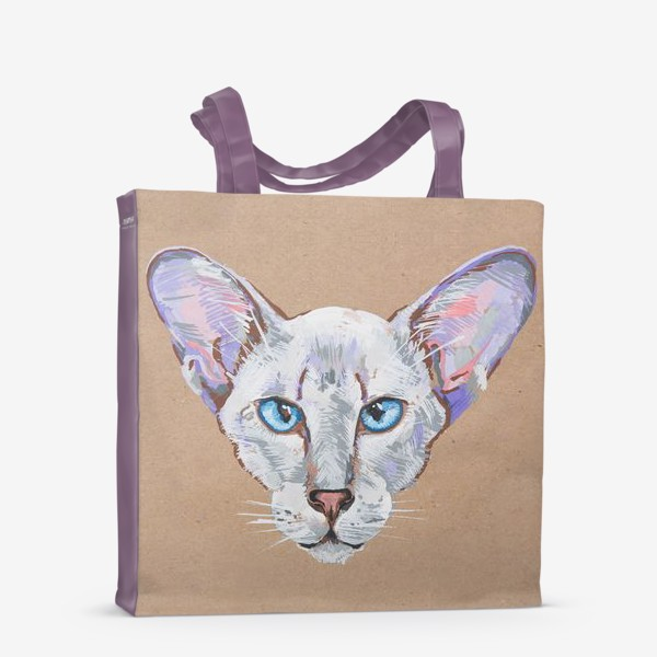 Сумка-шоппер «Кот фиолетовоУх»