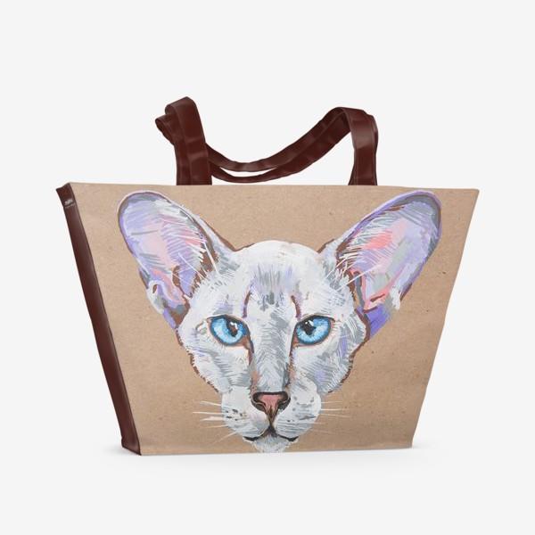 Пляжная сумка «Кот фиолетовоУх»