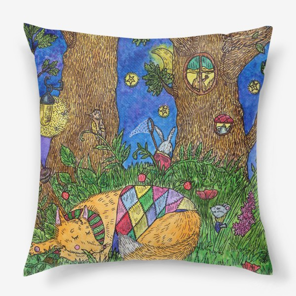 Подушка «Колыбельная для маленького лиса»