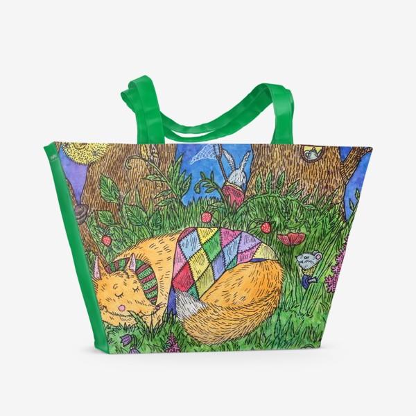 Пляжная сумка «Колыбельная для маленького лиса»