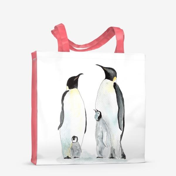 Сумка-шоппер «Пингвины. Дружная семейка.»