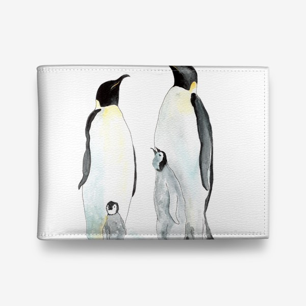 Кошелек «Пингвины. Дружная семейка.»