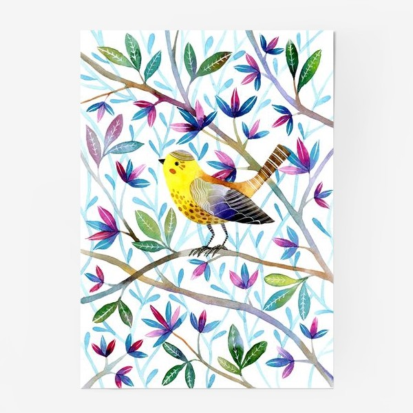 Постер «Птичка на веточках »