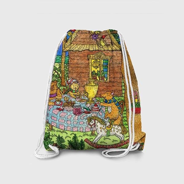 Рюкзак «Милые животные пьют чай»