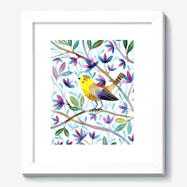 Картина «Птичка на веточках »