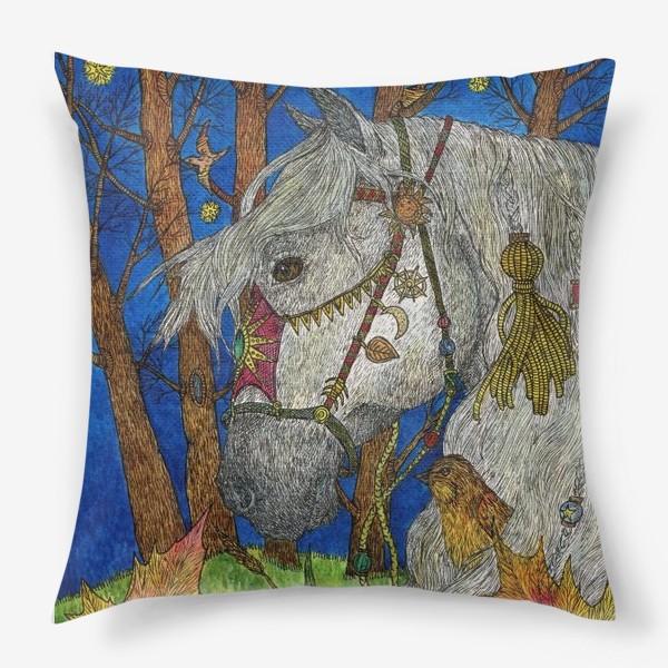 Подушка «Белая лошадь»