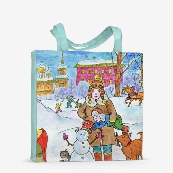 Сумка-шоппер «Зимняя прогулка»