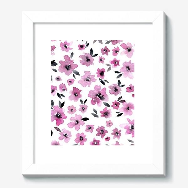 Картина «Розовые цветы»