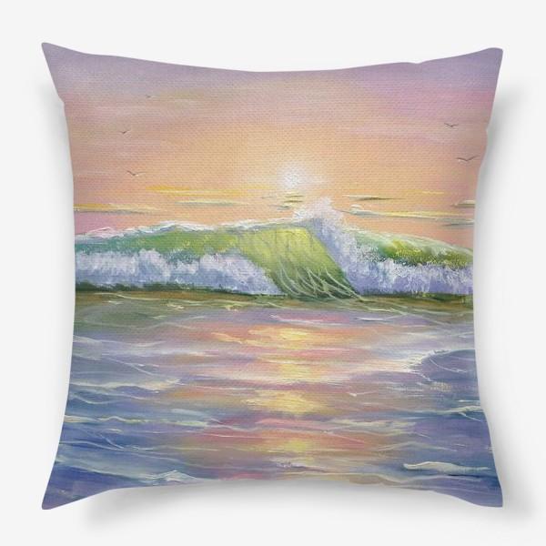 Подушка «Восход над морем»