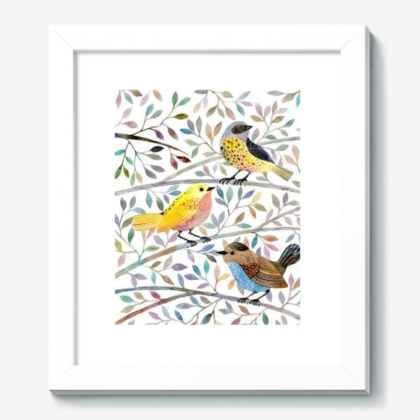 Картина «Птицы на веточках»