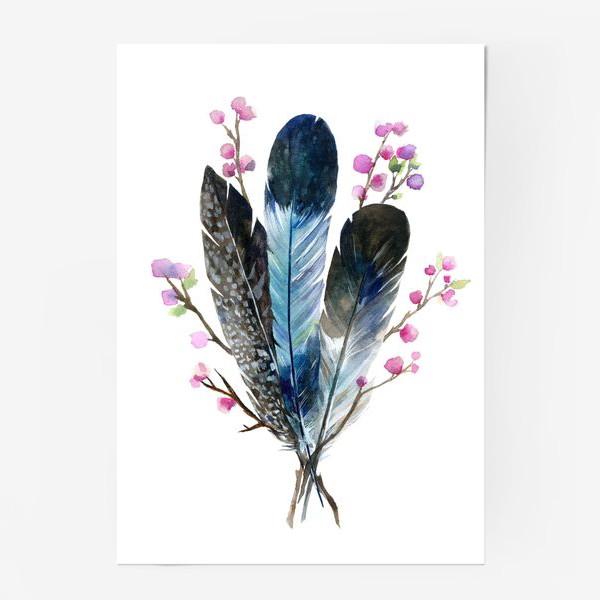 Постер «Перья и сакура»