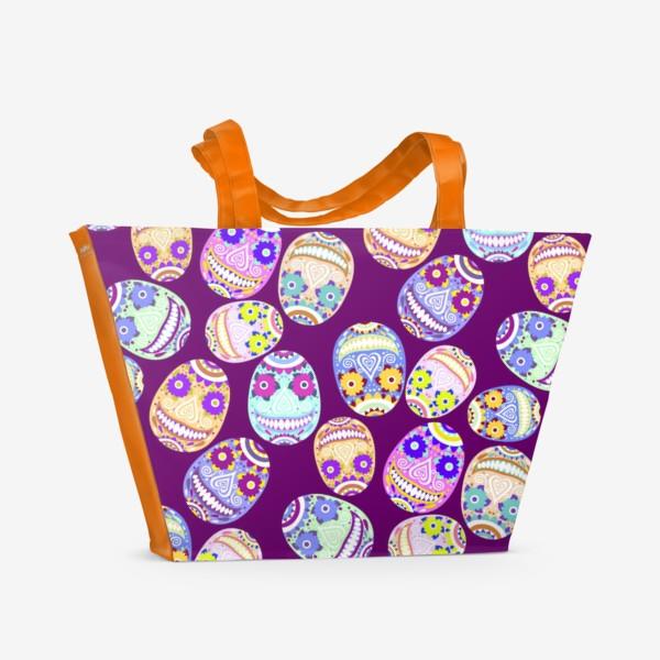Пляжная сумка «Веселые мексиканские черепа. Праздник смерти»