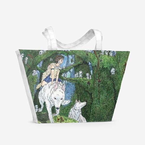 Пляжная сумка «Принцесса Мононоке»