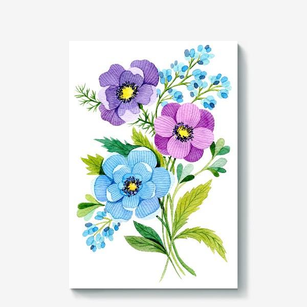 Холст «Фиолетовые цветы»