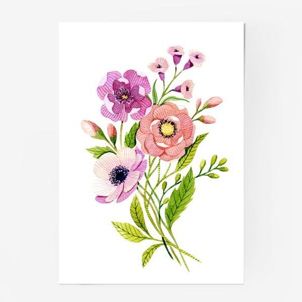 Постер «Коралловые цветы»